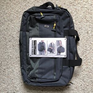 NWT Solo Laptop Backpack Briefcase